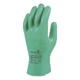 Gants protection chimique antistatique nitrile vert Flexitril 27