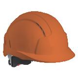 Casque ventilé avec crémaillère EVOLITE orange