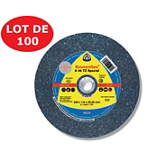 Lot de 100 disques à tronçonner matériaux Inox