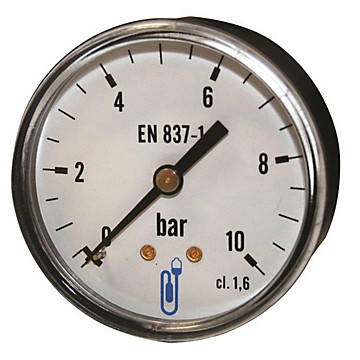 Manomètre - Boîtier ABS sec - Raccord arrière 1/4