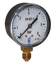 Manomètre - Boîtier ABS sec - Raccord vertical 1/4