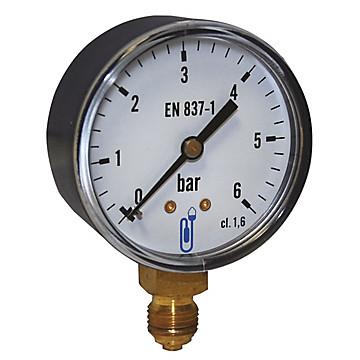 Manomètre - Boîtier acier sec - Raccord vertical 1/2