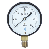 Manomètre gaz - Raccord vertical 1/4'