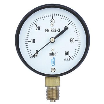 Manomètre gaz - Raccord vertical 1/4' Distrilabo