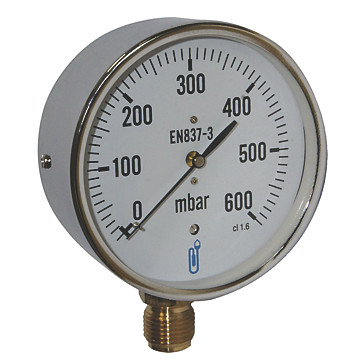 Manomètre gaz - Raccord vertical 1/2' Distrilabo