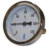 Thermomètre bimétallique à cadran A45D  - Arrière