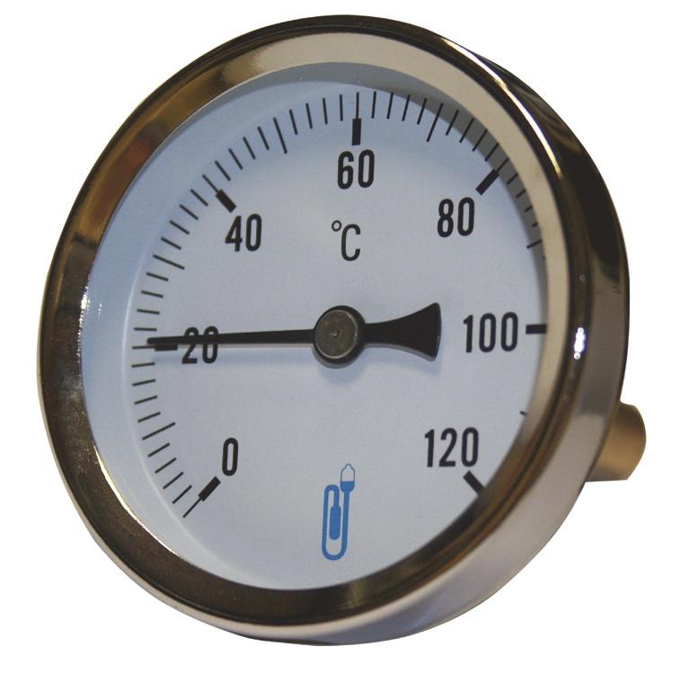 Thermomètre bimétallique à cadran A45D  - Arrière Distrilabo