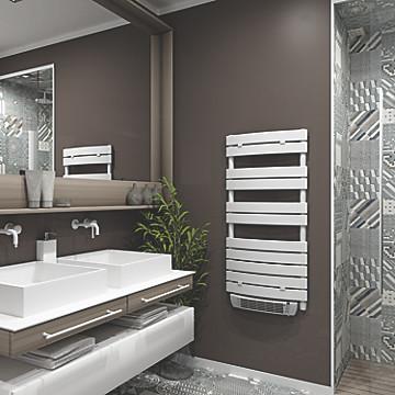 Sèche-serviettes électrique soufflant à lame plate MB Expert