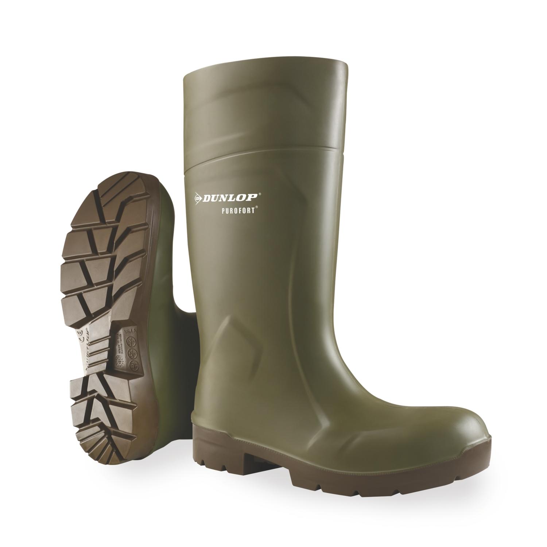 Bottes Purofort Foodpro Multigrip Safety CA61831 - Vert/Marron Dunlop