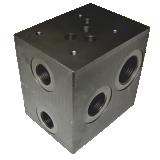 Embase, bloc foré hydraulique CETOP 5 NG10