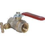 Vanne BS ASTER PN 40 FF avec purge à potence à poignée plate