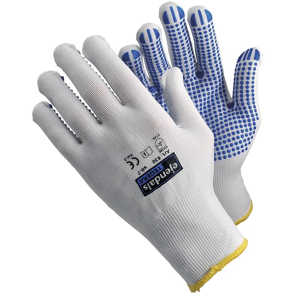 Gants de travail tricotés nylon avec picots Tégéra 630 Ejendals
