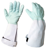 Gants de manutention en cuir hydrofuge
