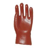 Gants pvc rouge enduit, modèle standard, 27 cm