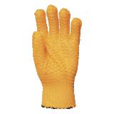 Gants de travail grillagés PVC antidérapant Criss-Cross