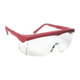 Lunettes Pivolux incolore monture rouge