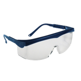 Lunettes Pivolux incolore monture bleue