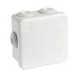 Boîte de dérivation étanche carrée avec couvercle enclipsable 80 x 80 x 45 mm - 960°