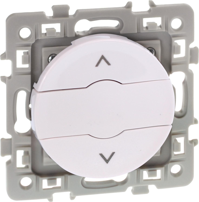 Interrupteur volets-roulants 3 positions Square Blanc Eur'Ohm