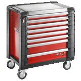 Servantes JET+ 8 tiroirs - 4 modules par tiroir - Coloris rouge