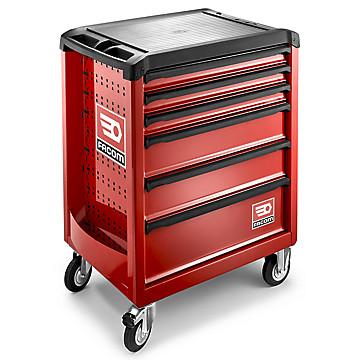 Servante d'atelier 6 tiroirs rouge ROLL.6M3PB + plateau mousse offert Facom
