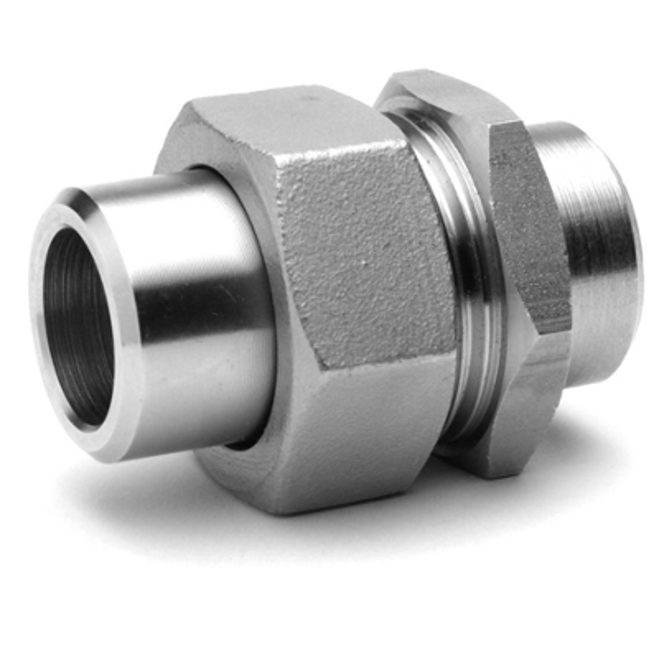 Raccord union 3 pièces LL inox 316 Raccorderie Metalliche