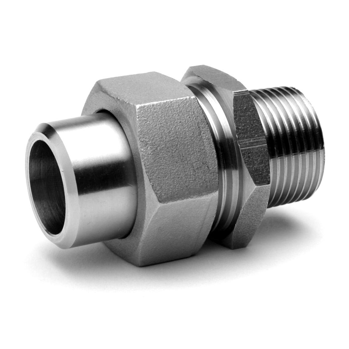 Raccord union 3 pièces LM inox 316 Raccorderie Metalliche