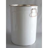Seau en fer blanc avec couvercle 25 L