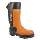 Bottes de sécurité forestières anticoupures caoutchouc noires/orange CH004