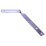 Hampe chantournée pour crochet à dos plat avis vis 80 mm - GAF