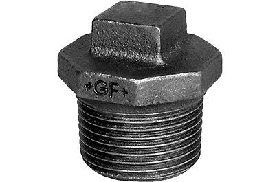 Bouchon M fonte noir avec collet - Fig.290