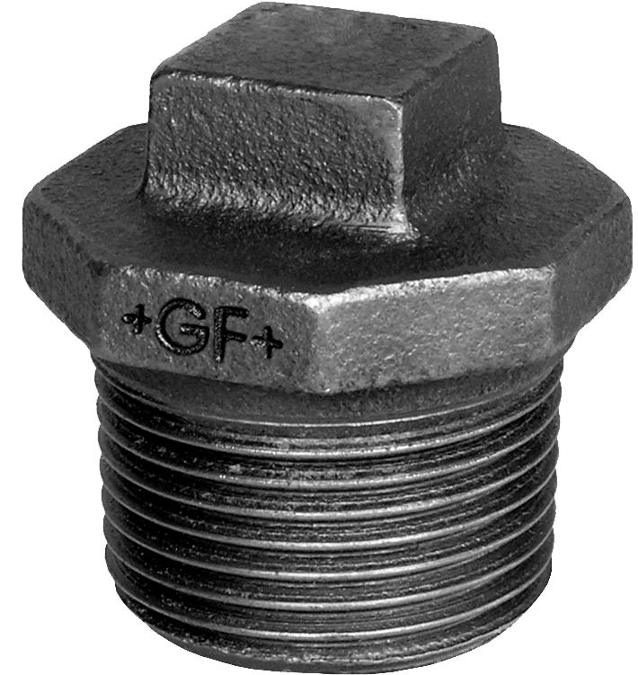 Bouchon M fonte noir avec collet - Fig.290 Georg Fischer