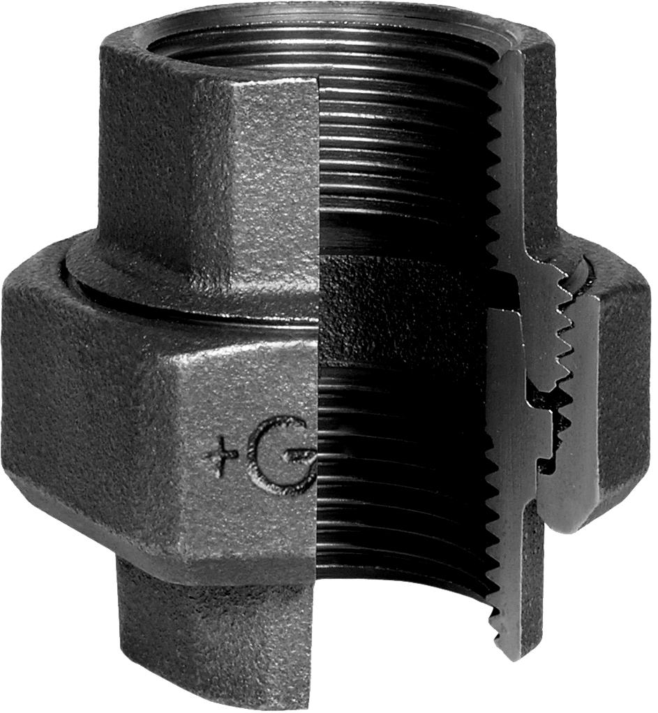 Manchon union fonte noir à joint conique FF - Fig.340 George Fischer