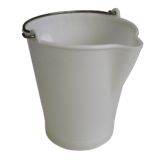Seau alimentaire plastique blanc 12L avec bec verseur