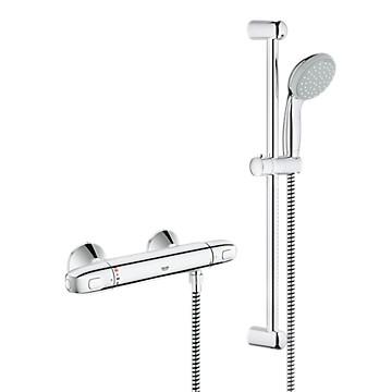 Mitigeur thermostatique douche G1000 + Barre Tempesta Classic Grohe