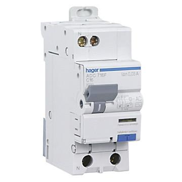 Disjoncteur différentiel Ph+N 30mA 4.5/6 kA type AC HAGER