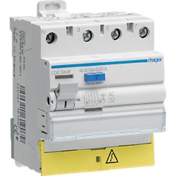 Interrupteur différentiel 3P+N -Type AC Hager