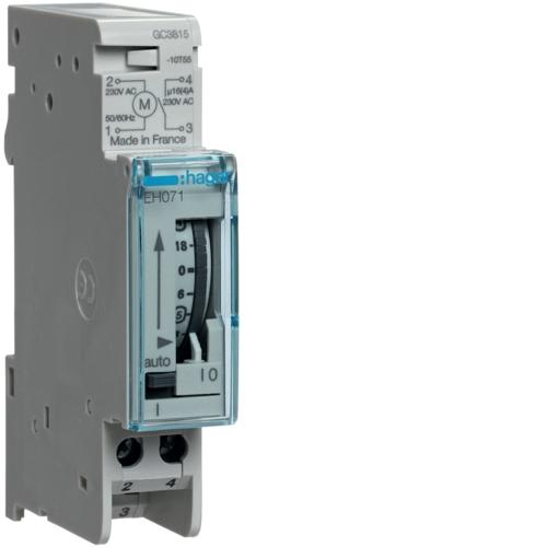 Interrupteur horaire électromécanique compact Hager