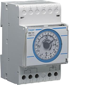 Interrupteur horaire électromécanique standard 1 voie Hager