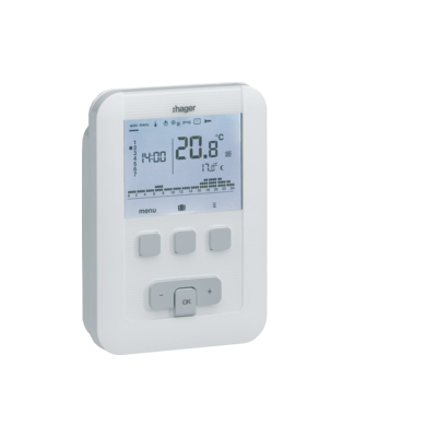 Kit thermostat d'ambiance programmable Hager