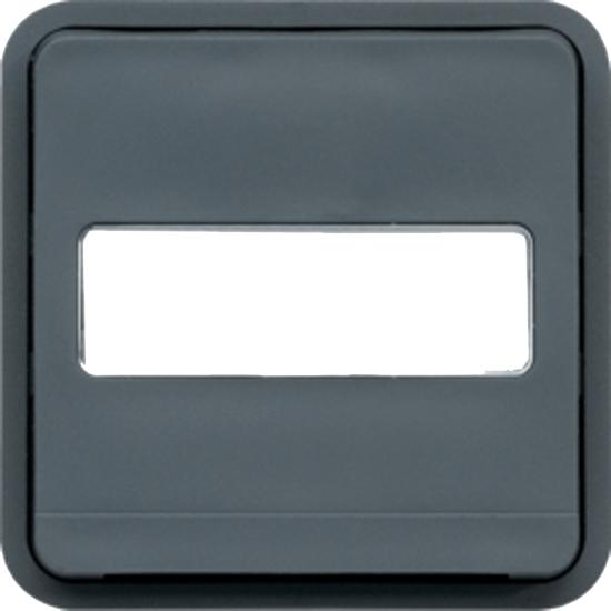 Cubyko composable - Commande éclairage - Gris Hager