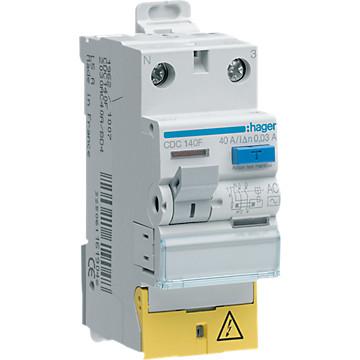 Interrupteur différentiel 2P - Type AC Hager