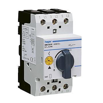 Disjoncteur moteur magnéto-thermique 6,3-10A - 2,5m Hager