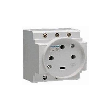 Prise de courant modulaire - Cage à vis Hager