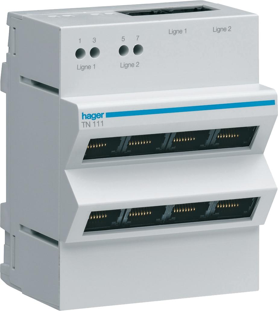 Répartiteur téléphone analogique/RNIS Hager