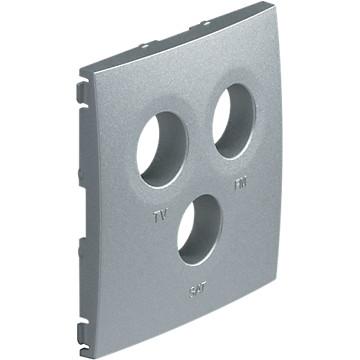 Kallysta - Enjoliveur titane - Prise courant faible Hager