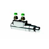 Kit raccord Design chromé pour radiateur vertical