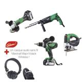 4 outils électroportatifs 18 V Li-ion / 230 V en lot