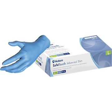 Gants de protection nitrile bleu non poudrés 1175 Medicom