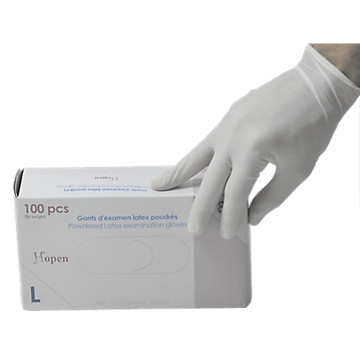 Gants usage unique en  latex poudré naturel 30.001 Medicom